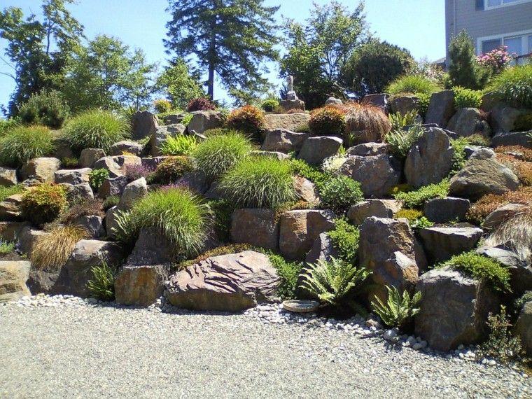 Resultado de imagen de jardin en pendiente landscape for Jardines en pendiente