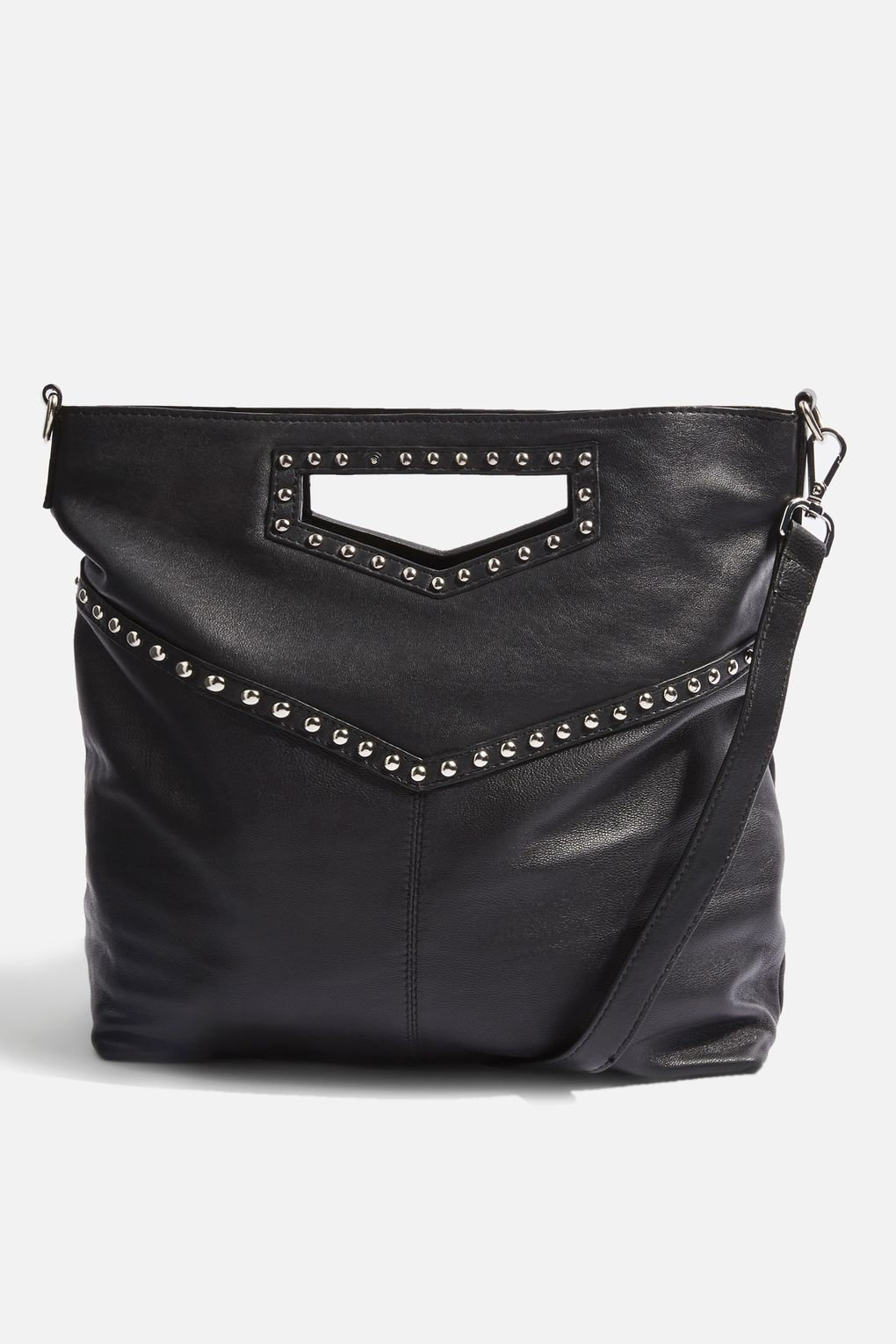 d87942ccab Leather Studded Grab Handle Tote Bag at Topshop #black #leather #tote  #totebags #handbags #bags #womensfashion #studs #studded #edgystyle  #edgyfashion ...
