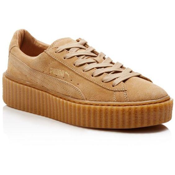 brown suede puma shoes