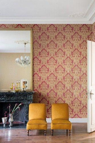 Vliestapete rot gold Barock Architects Paper 96105-6 Barock - goldene tapete modern design