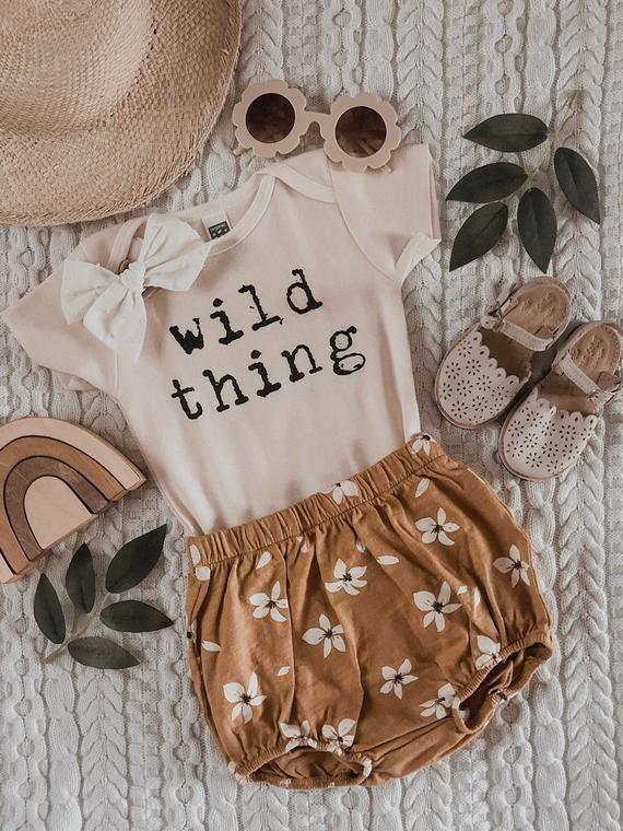 Wild Thing Bodysuit, Bio-Baby-Kleidung, Unisex-Ba