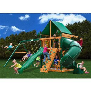 Gorilla Playsets Mountaineer Deluxe Cedar Wooden Swing Set Wooden