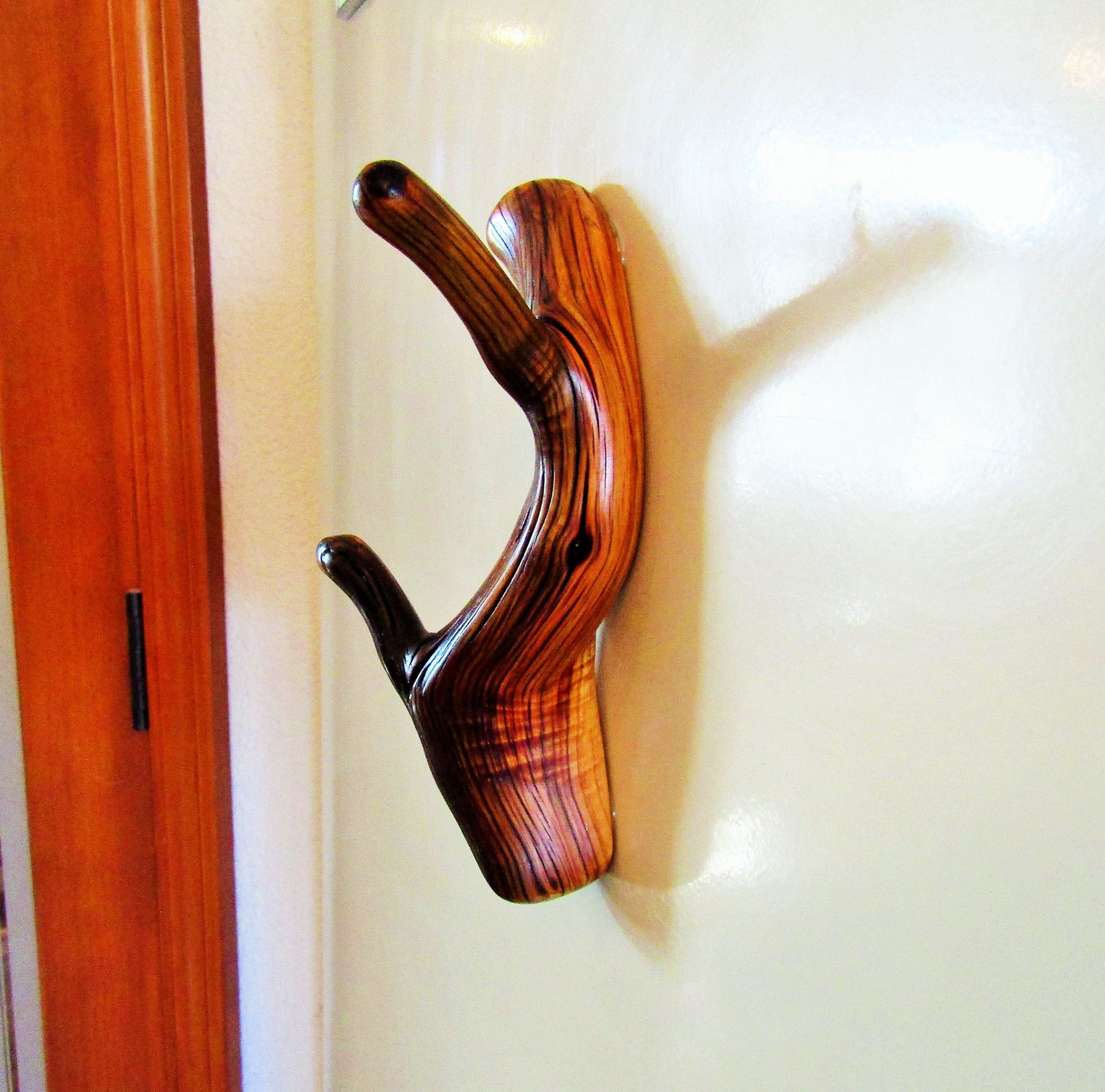 Juniper tree branch Refrigerator with double hooks