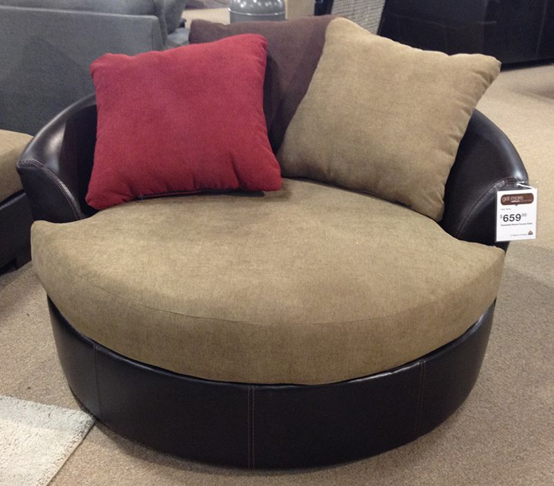 This Cozy Round Oversized Swivel Accent Chair Is A Fun Addition