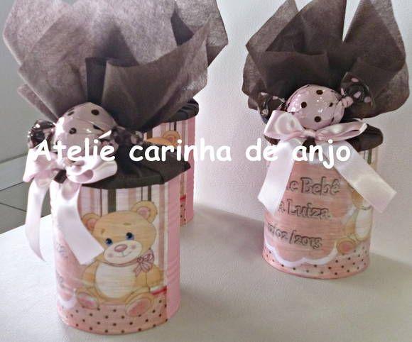 Enfeite De Lata ~ Lata de leite decorada, faco qualquer tema Ideal para enfeite de mesa ou lembranca de festa R