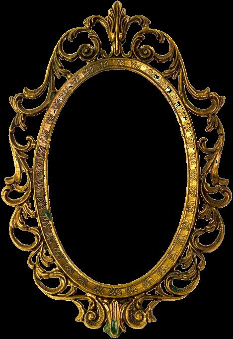 Gold Yellow012 Png 469 682 Cadre Photo Miroir Cadre