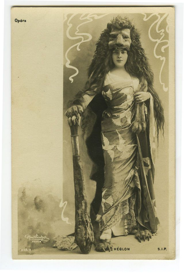 c 1903 Theater French Beauty HEGLON Early undivided back photo postcard
