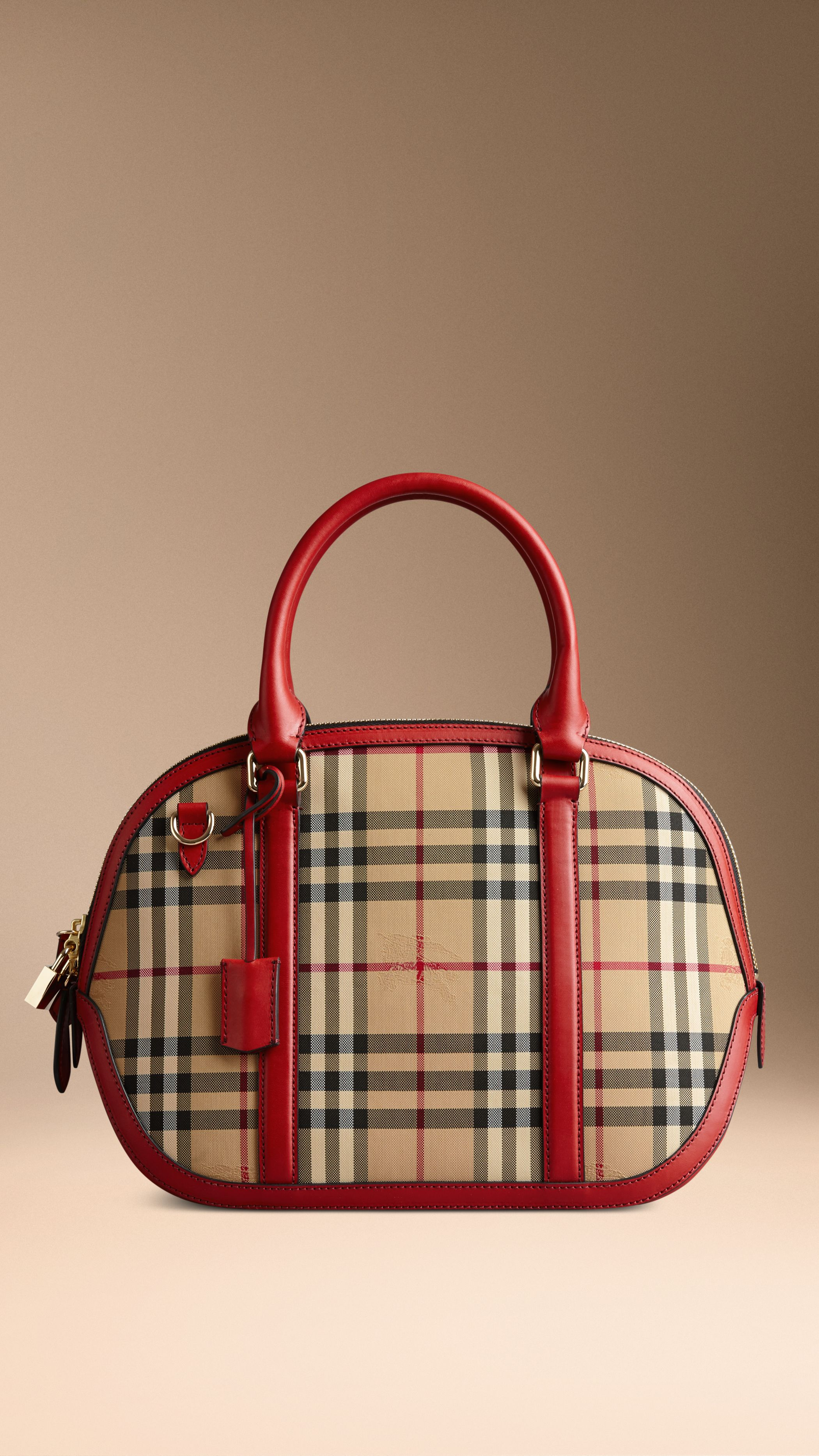 3b6ce39c8f85 A structured bag in the new Horseferry check with sartorial leather trim.  Find the perfect gift this festive season at Burberry.com  burberrygifts    ...