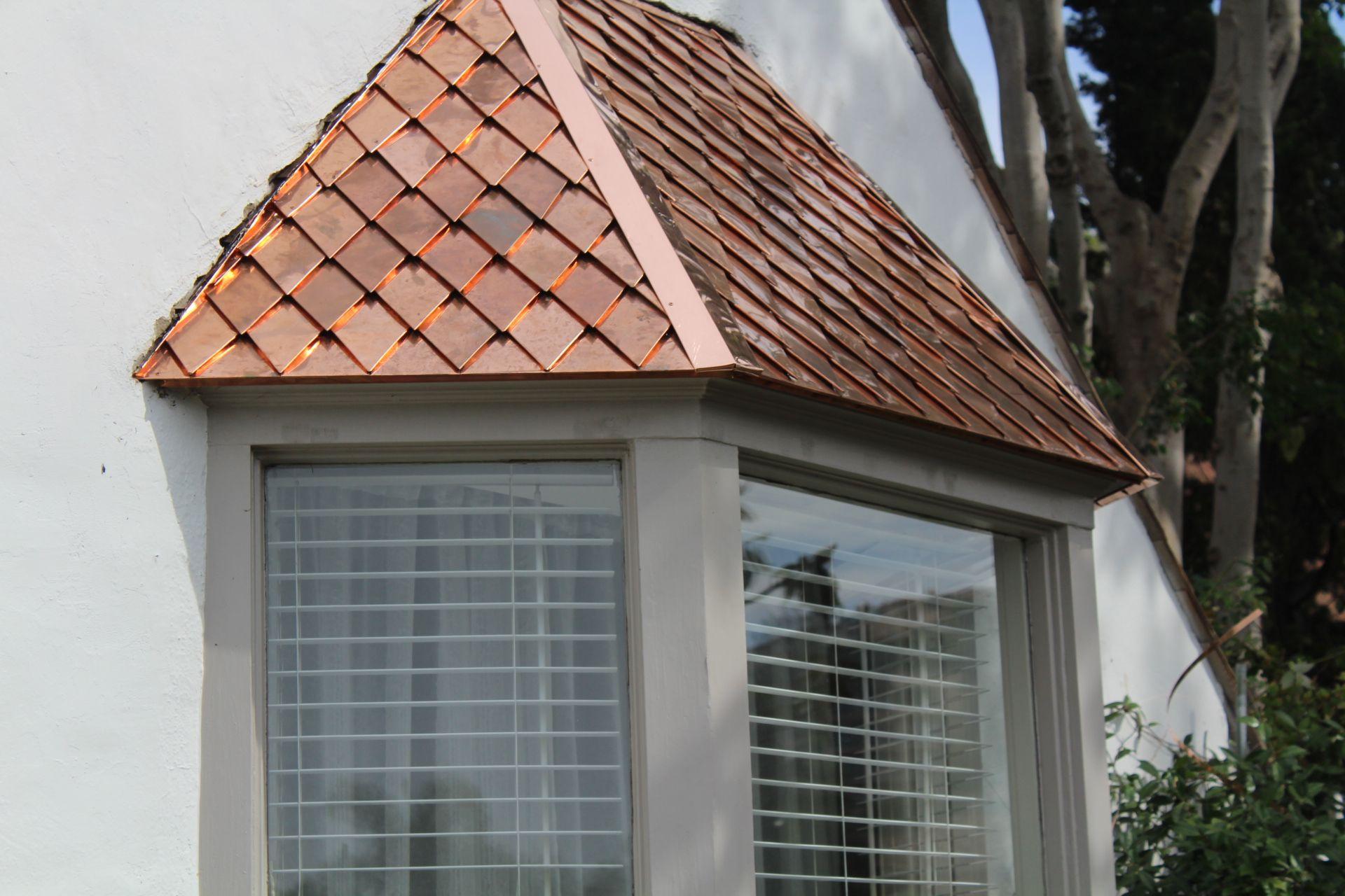 Diamond Shingle Bay Window Roof Copper Roof House Metal Roof Houses Metal Roof