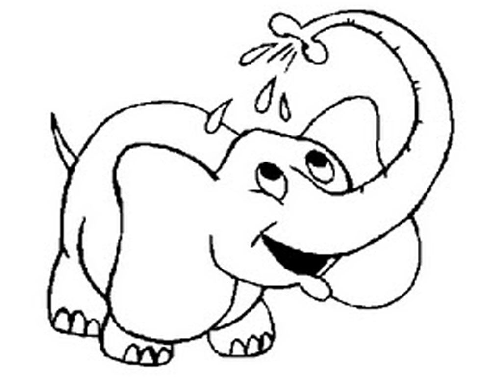 White Elephant Coloring Pages