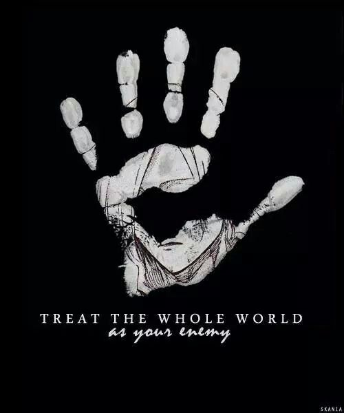 Treat the whole world as your enemy - Attack on Titan quote