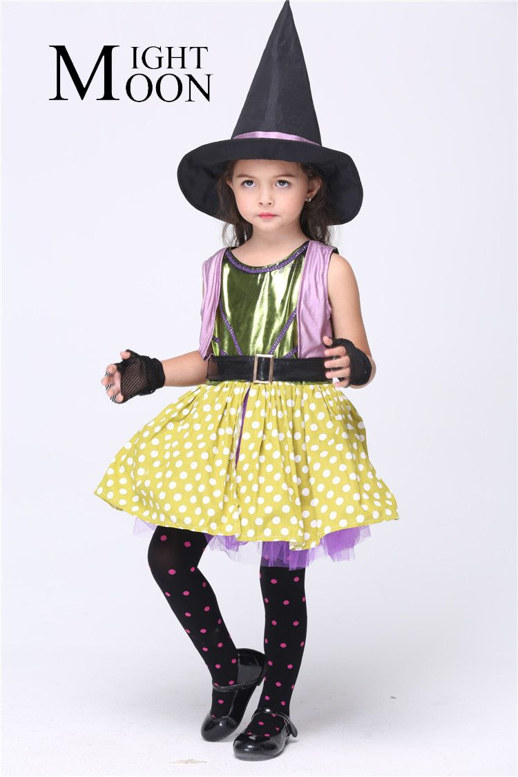 MOONIGHT Kids Witch Costumes Cosplay Witch Cartoon Costumes For ...