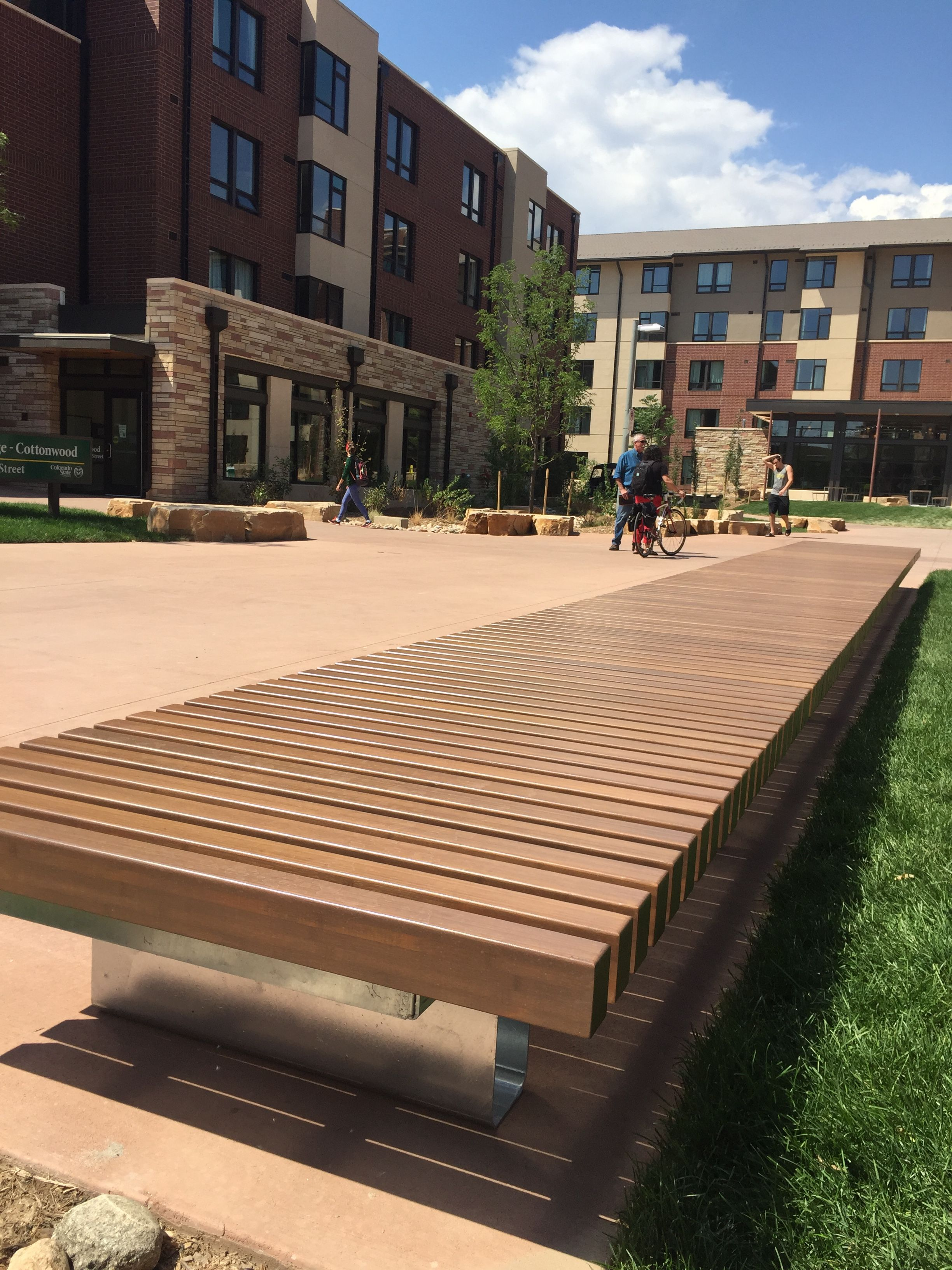 Anova Custom Benches @ Aggie Village   Colorado State University