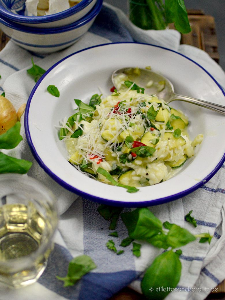 Photo of Jamie Oliver's zucchini risotto – stilettos & sprouts
