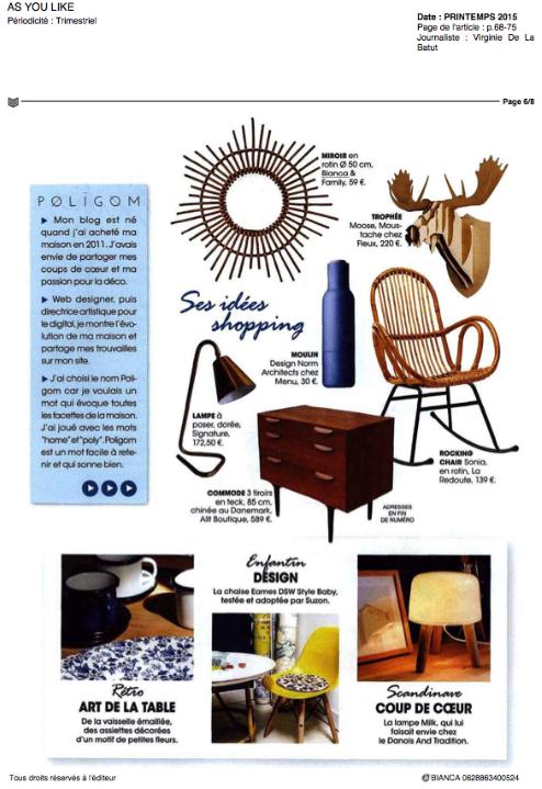 Bianca and Family, As You Like Magazine, Printemps 2015