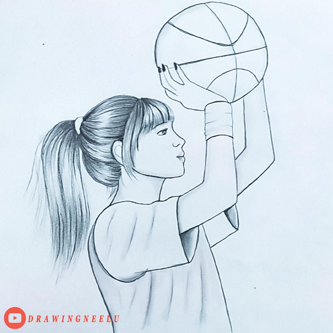 Photo of How to draw a girl playing volleyball   Easy sketches for beginners   simple Pencil drawing tutorial