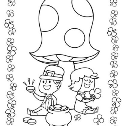 Pot of Gold St. Patrick\'s Day Coloring Pages | St Patricks Day ...