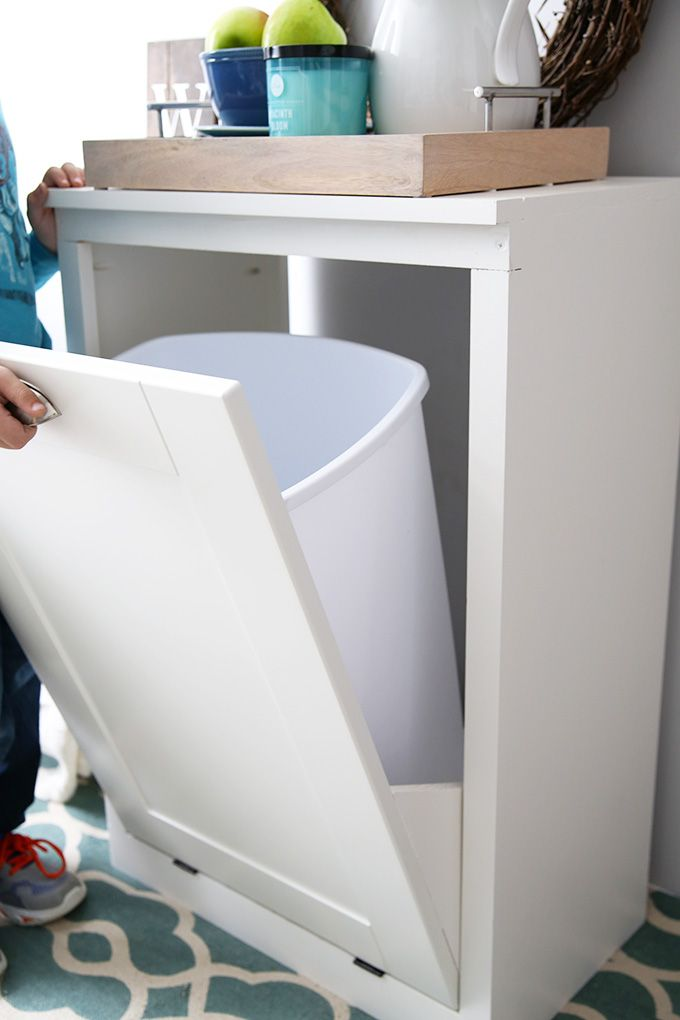 How To Make A Custom Tilt Out Trash Cabinet Justaandherblog