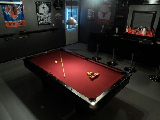 This Is The Mancave I Built In My 2 Car Detached Garage Man Cave