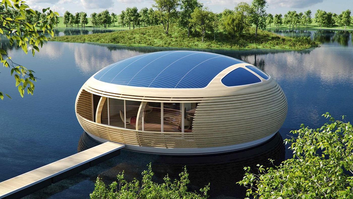 Homes of the future A floating waternest