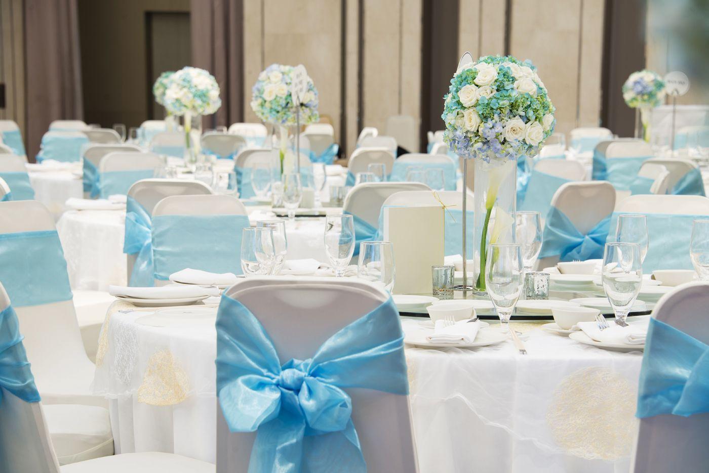 Sky Blue Themed Wedding Decoration Blue Wedding Decorations
