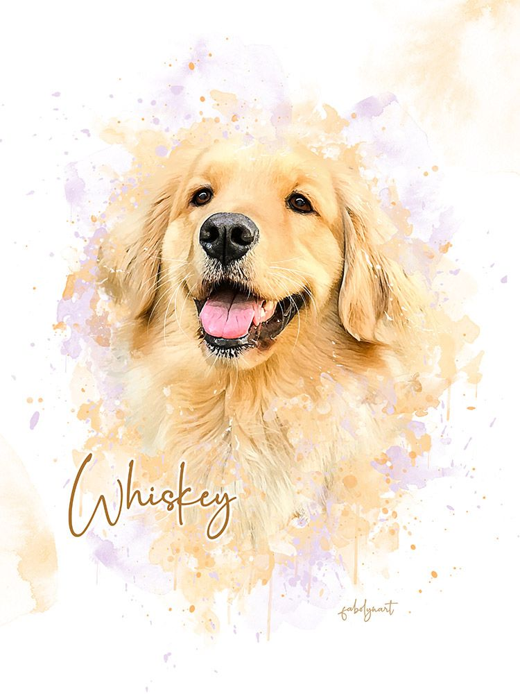 Simple Style Custom Pet Portrait In 2020 Pet Portraits Custom