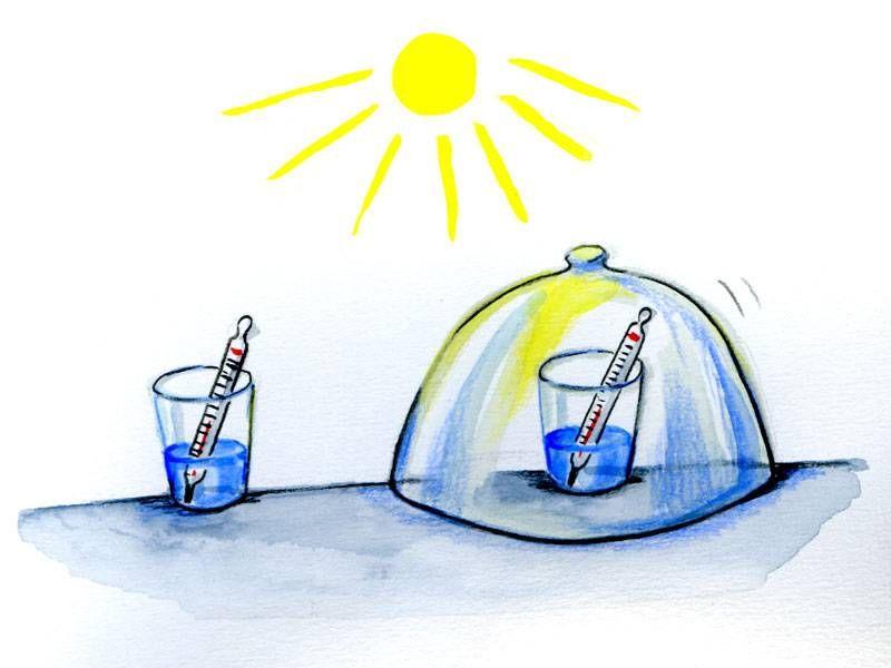 In diesem Experiment für Kinder bauen Sie gemeinsam ein Treibhaus ...