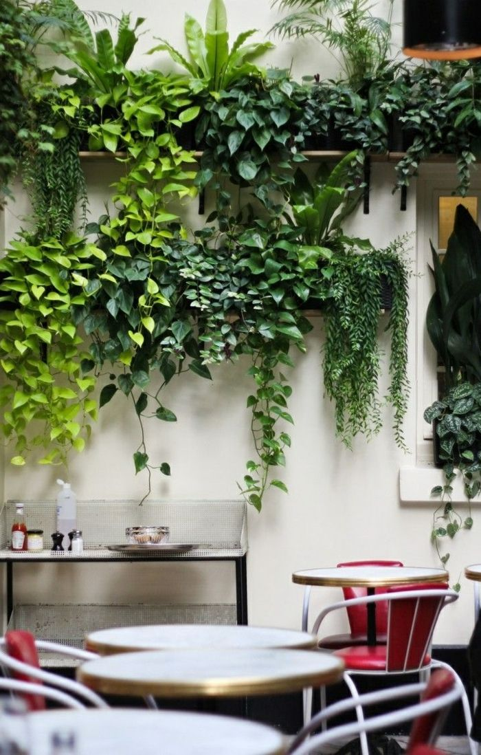 Nice Garten Gestalten Wanddeko Pflanzen Gartenmöbel