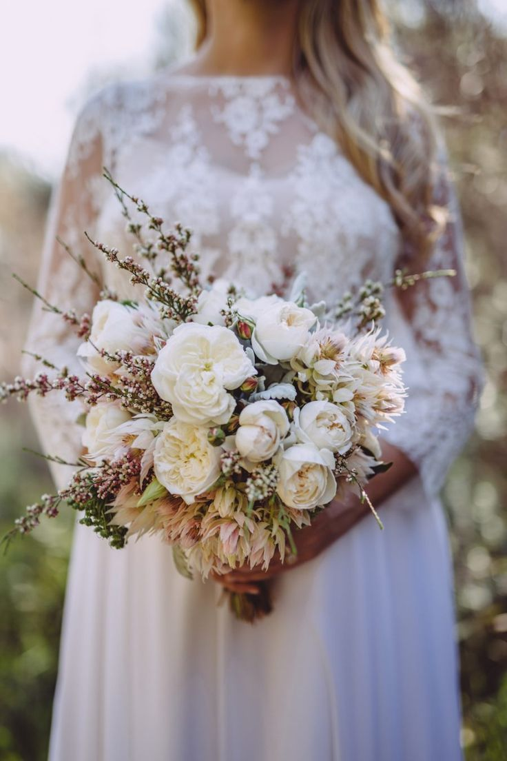 Grace & Sam\'s Whale Beach Wedding | Wax flowers, Flower bouquets and ...