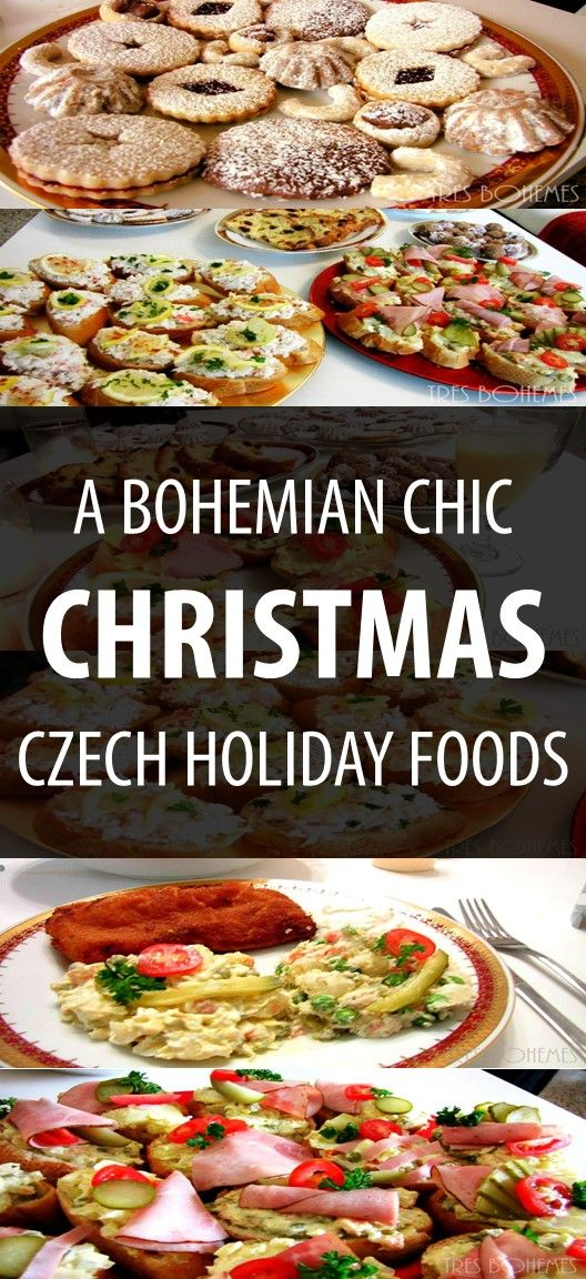A nice view of a traditional Czech Christmas dinner