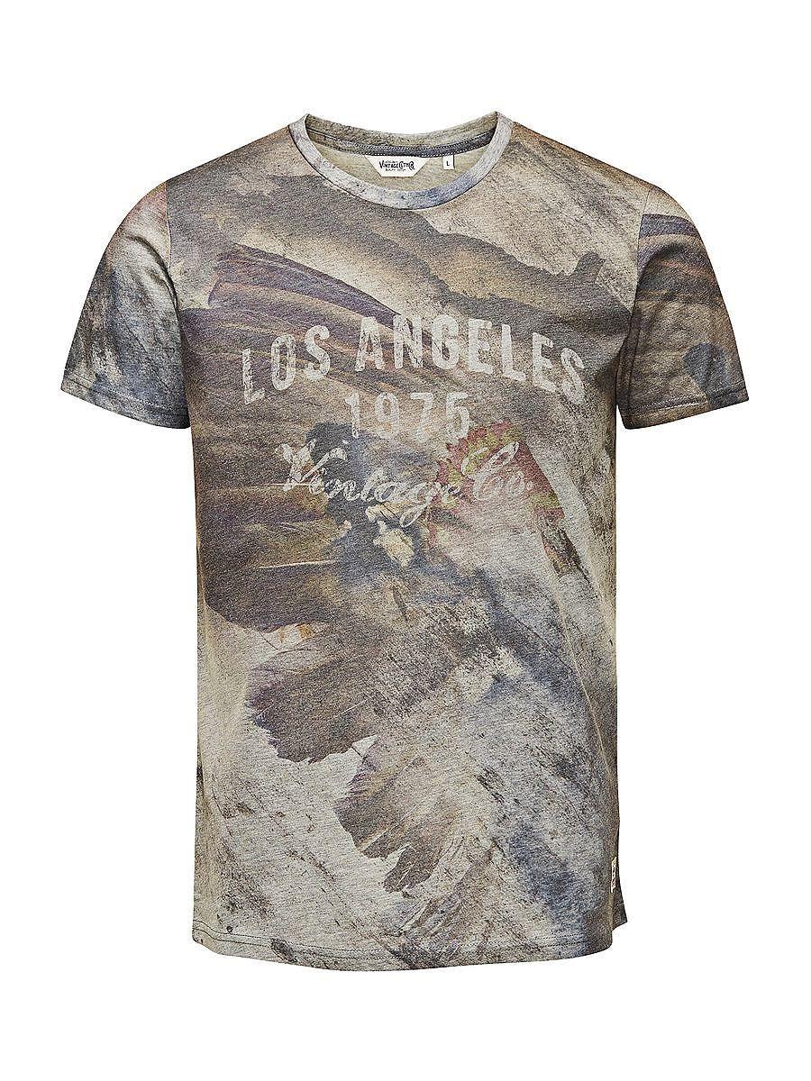 JACK & JONES VINTAGE CLOTHING - T-Shirt von VINTAGE - Slim fit - Crew Neck - Komplett bedruckt 100% Baumwolle...