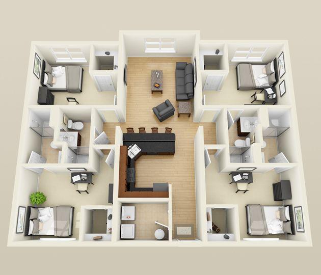 4 Bedroom Apartment Floor Plans: Pin By Debbie Skelton On Floor Plans