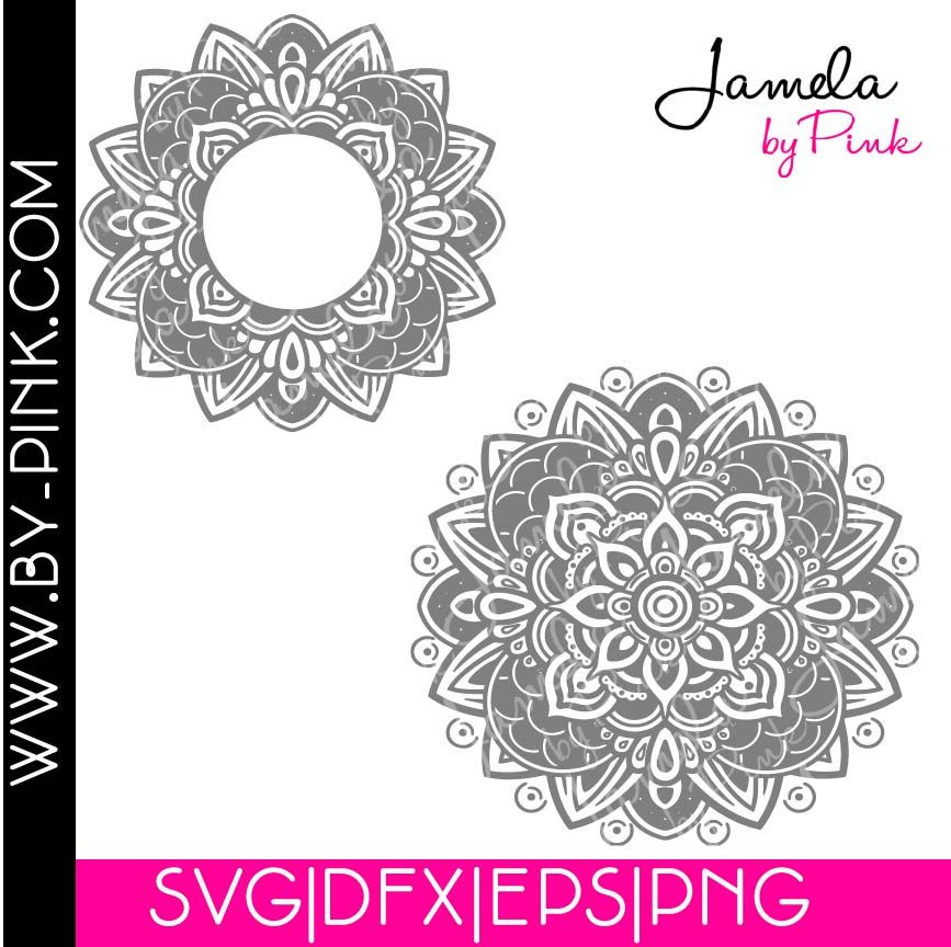 Mandala Svg Set Of 2 in 2020 Mandala svg