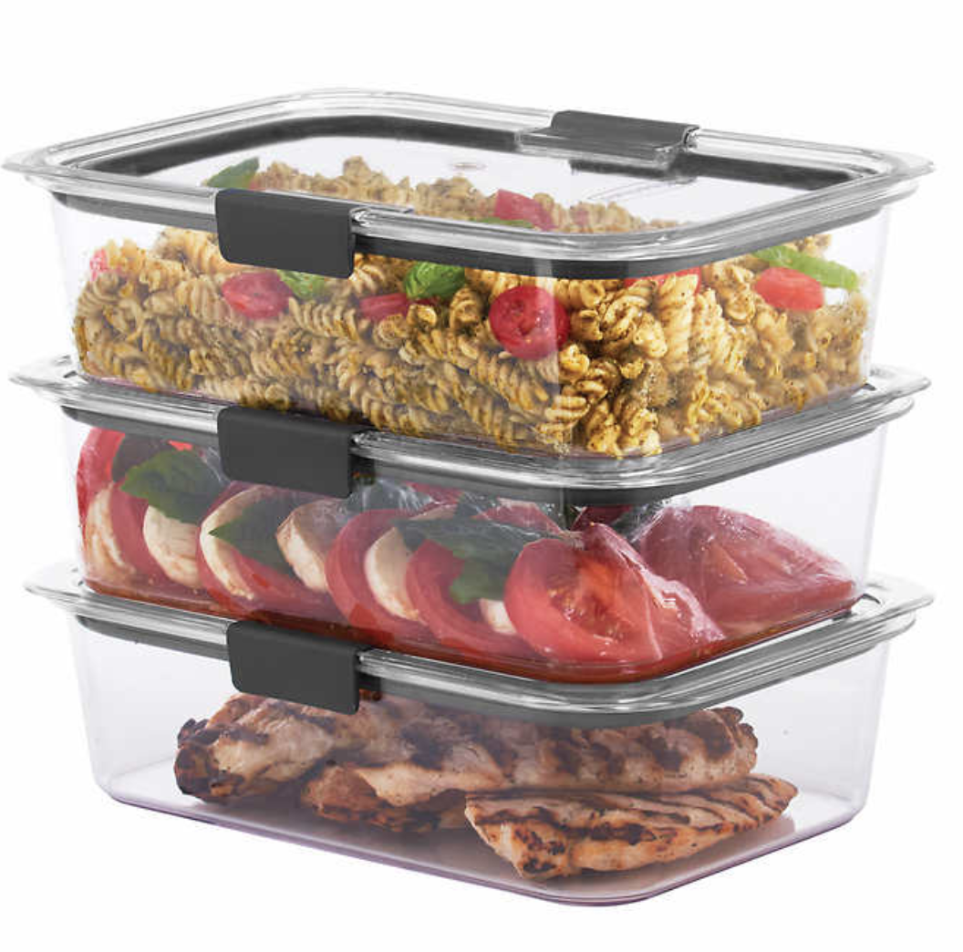 Rubbermaid Brilliance 3 Piece Food Storage Containers With Lids
