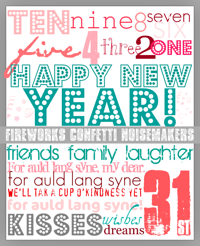 cute new years eve printable