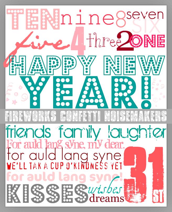 cute new years eve printable