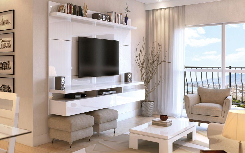 cosy drywall entertainment centers. Manhattan Comfort City 2 Floating Wall Theater Entertainment Center White  Gloss TV Stands