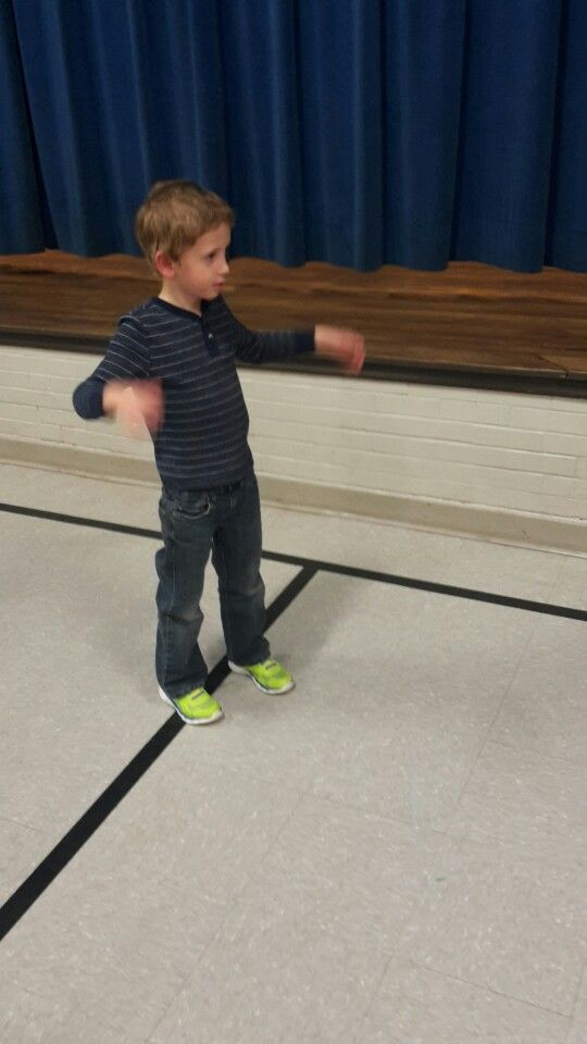 Learning to dance at my kindergarten sign up
