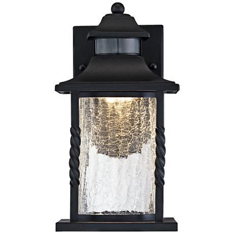 Westray 11 1 2 H Black Motion Sensor Led Outdoor Wall Light 7k617 Lamps Plus Led Outdoor Wall Lights Outdoor Wall Lighting Wall Lights