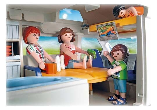 Playmobil grand camping car familial 4859 am nagement for Interieur camping car