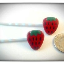 Juicy strawberry bobby pins