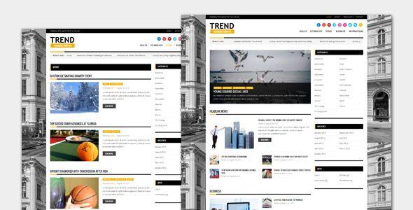 Trend - Magazine WordPress Theme | Wordpress, Template and Wordpress ...