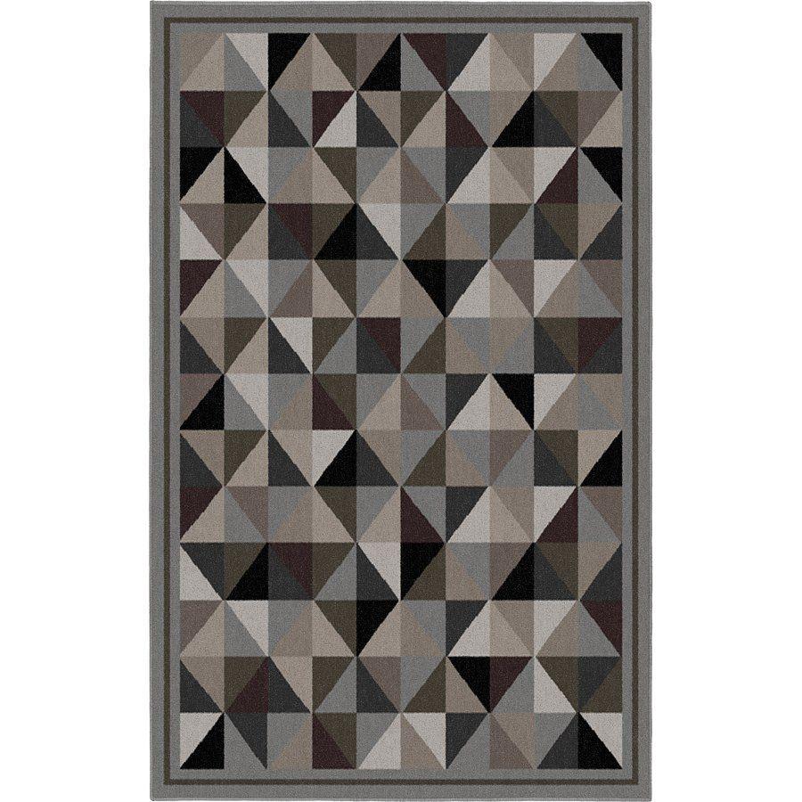 korhani home mansfield rectangular gray geometric area rug
