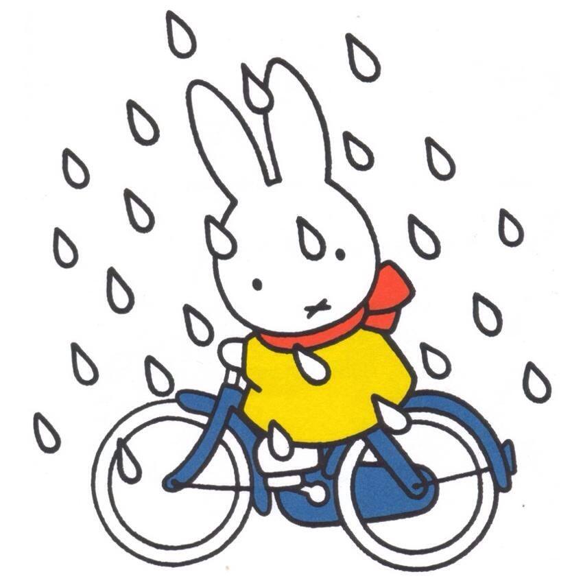 Nijntje op de fiets in de regen dick bruna regen for Bruna ommen