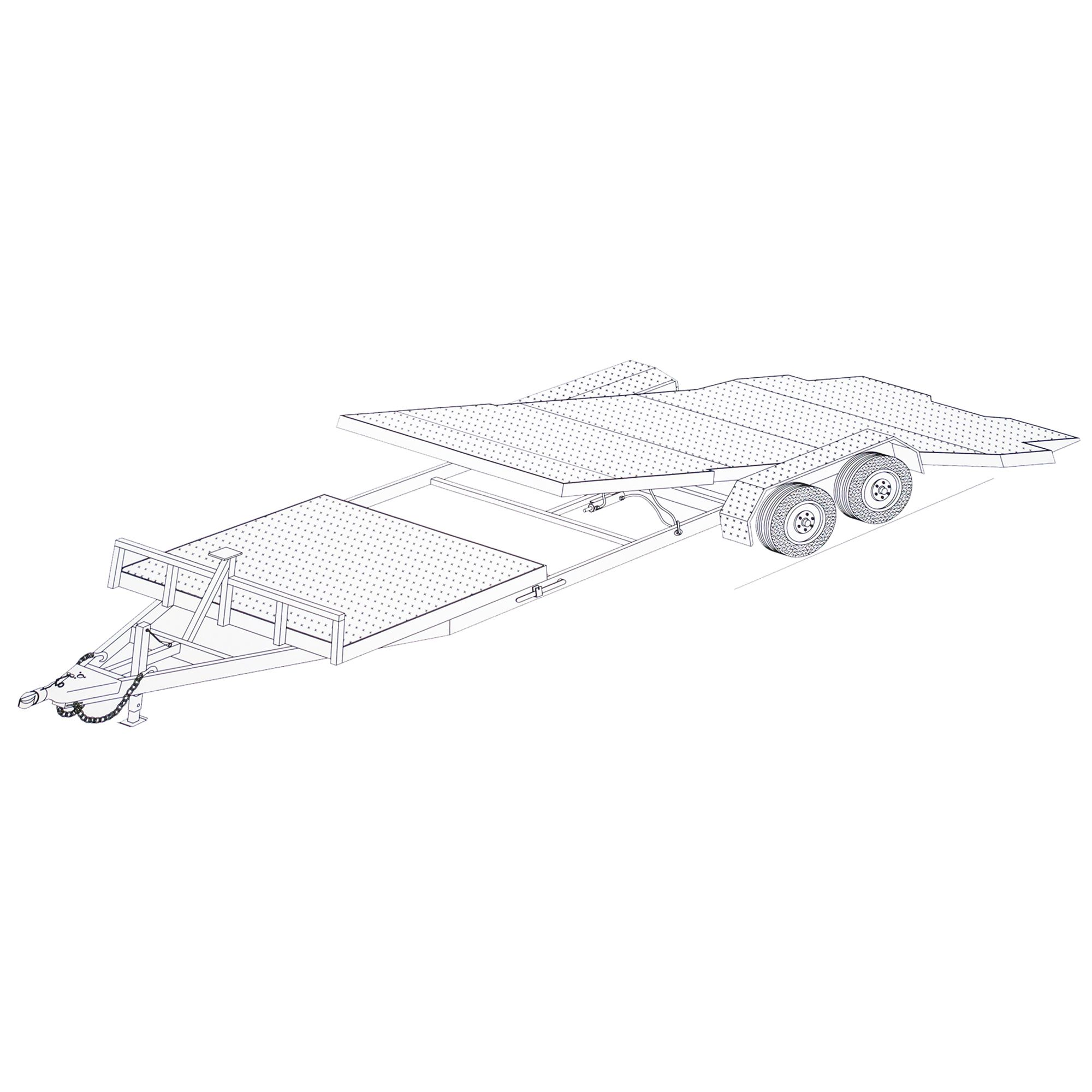 24′ Gravity Tilt Car Hauler Trailer Plans-Blueprints, Model 24GT – Johnson Trailer Parts