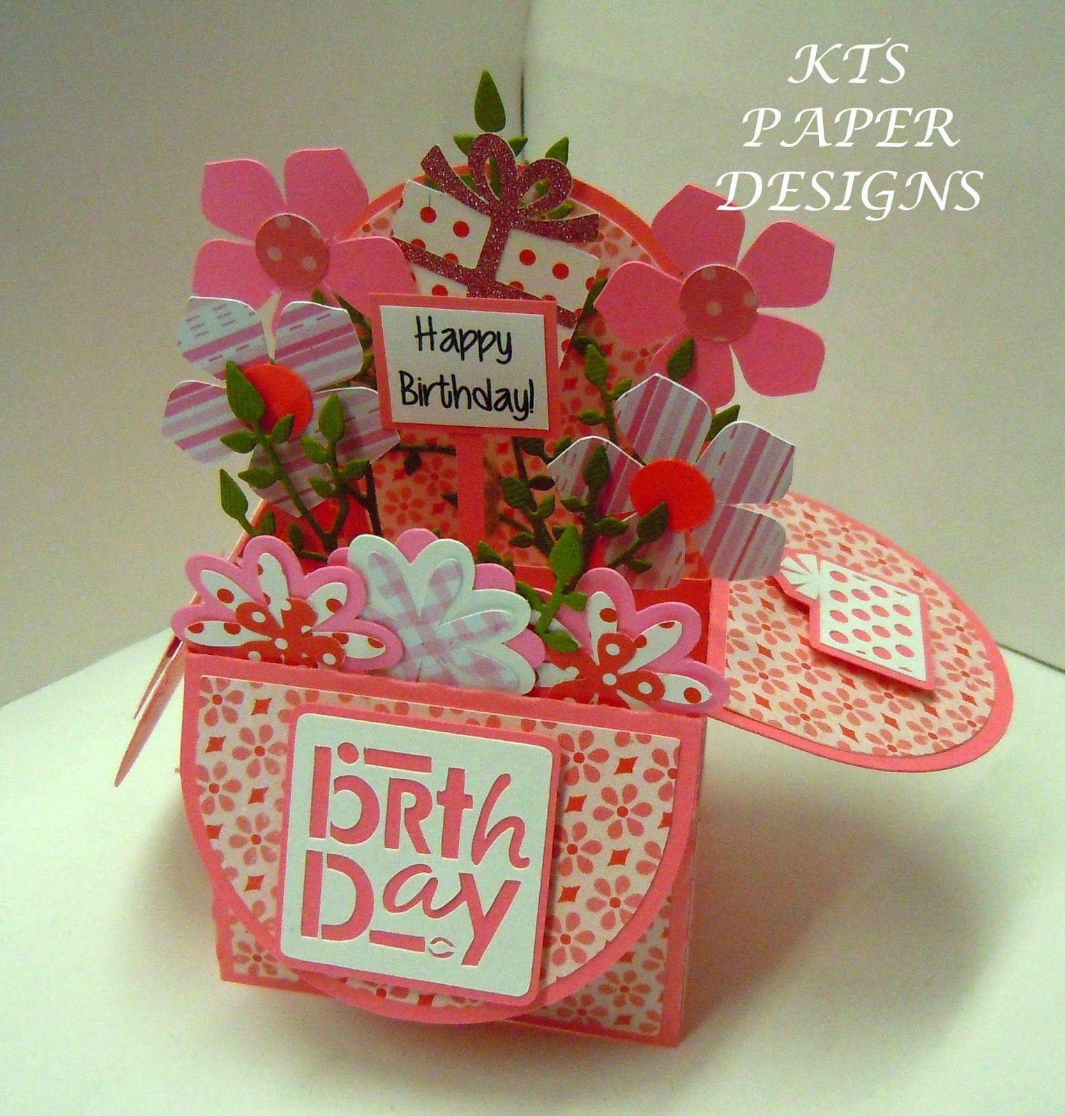 KTS Paper Designs: Card in a Box - Birthday
