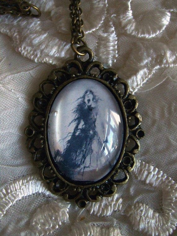 Stand on My Grave Portrait Cameo Necklace by MyOctoberCountry, $15.00