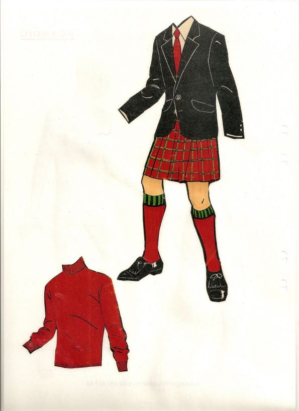 Swedish paper doll clothes for Fred Astaire / maggansklippdockor