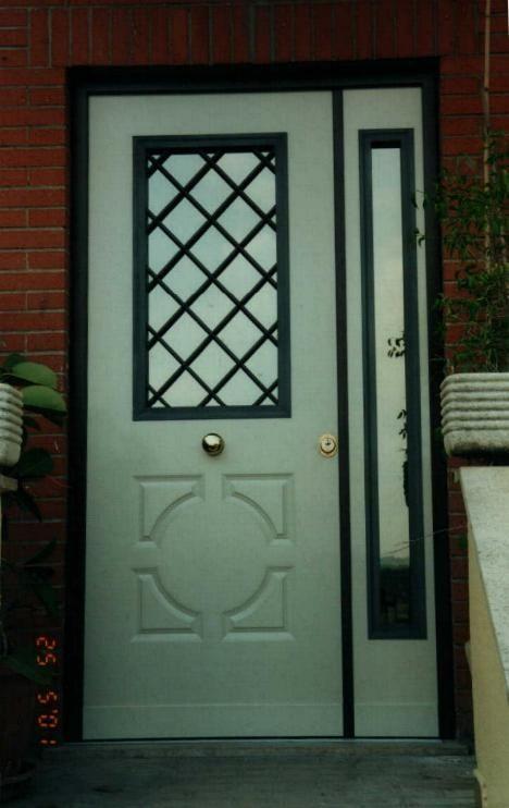 Porta blindata con antina in vetro blindato portoncini e - Porte ingresso vetro ...