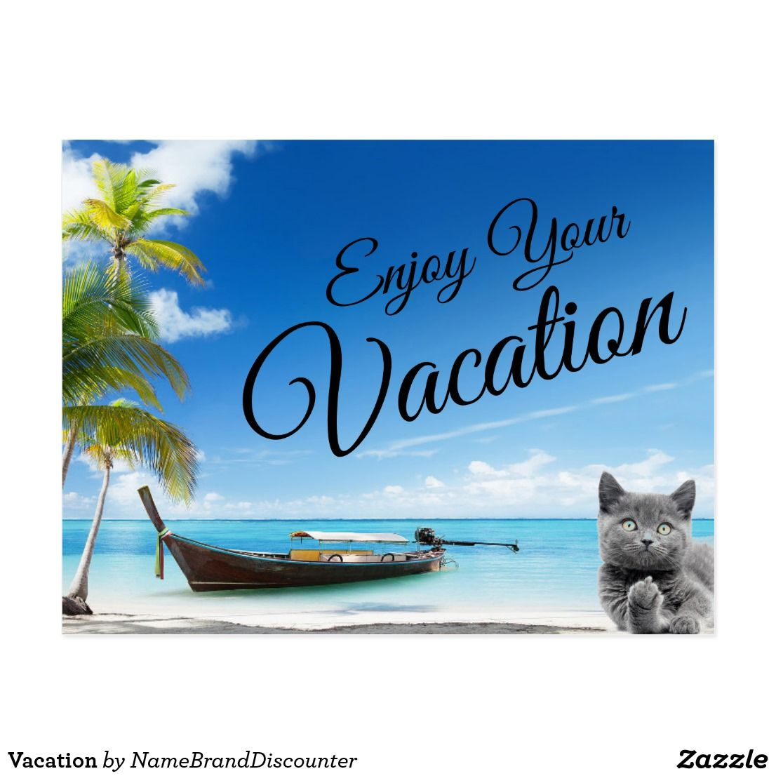 Vacation Postcard Postcard Vacation Enjoy Your Vacation